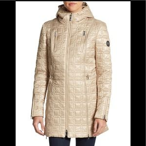 Dawn Levy Women's Metallic Winny Quilted gold,NWT
